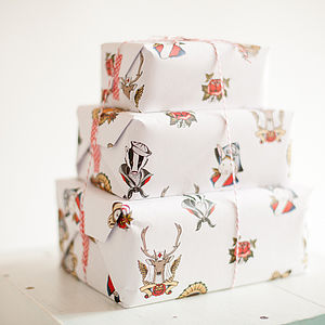 Christmas Animal Wrapping Paper Two Sheets - cards & wrap