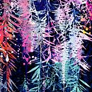 Bottle Brush Canvas Art