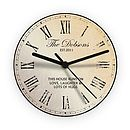 Personalised Message Wall Clock