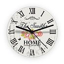 Personalised Floral Glass Wall Clock