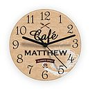 Personalised Bistro Wall Clock