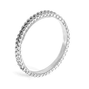 Patterned Wedding Ring In Platinum - rings