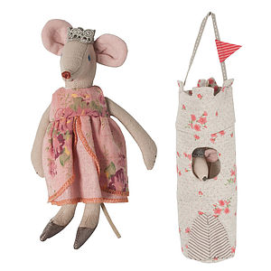 Queen Mouse Tower Soft Toy - soft toys & dolls