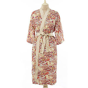Japanese Kimono Dressing Gown - the morning of the big day
