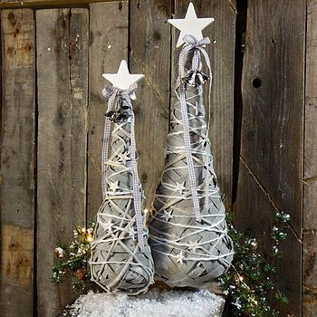 Wooden Star Willow Christmas Tree
