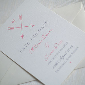 'Arrow And Heart' Save The Date Cards