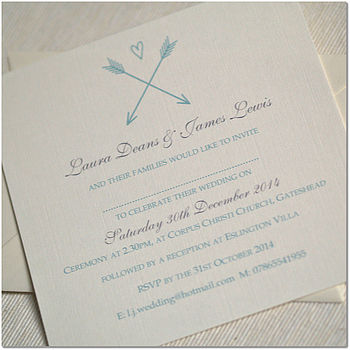 Arrow And Heart Wedding Invitations