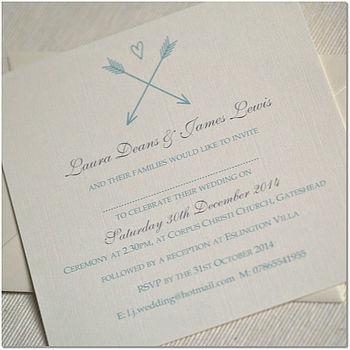 Arrow And Heart Wedding Invitations
