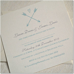 Arrow And Heart Wedding Invitations - wedding stationery