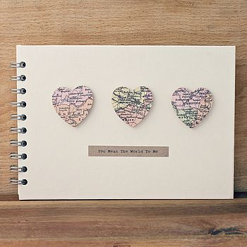 Personalised Small Hearts Wedding Book