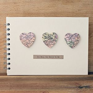 Personalised Small Hearts Wedding Book - guest books