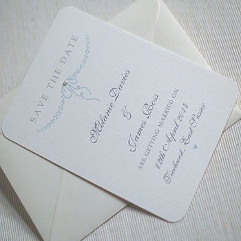 Personalised 'Elegant' Save The Date Cards