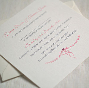 Personalised 'Elegant' Wedding Invitations - wedding stationery