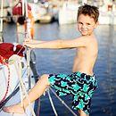 Boys Jade Gecko Swimshorts