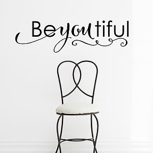 Beyoutiful Wall Sticker - home accessories