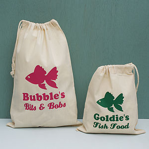 Personalised Fish Storage Bag - food, feeding & treats
