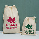 Personalised Fish Storage Bag