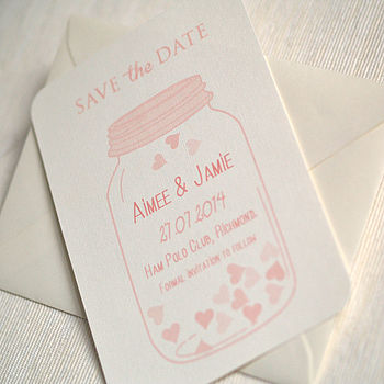 Jar Of Hearts Save The Date Cards