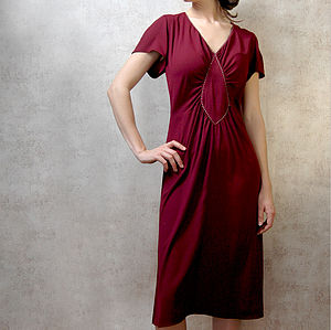 Garnet Crepe Anya Dress - women's fashion
