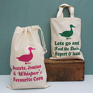 Personalised Duck Storage Bag - food, feeding & treats