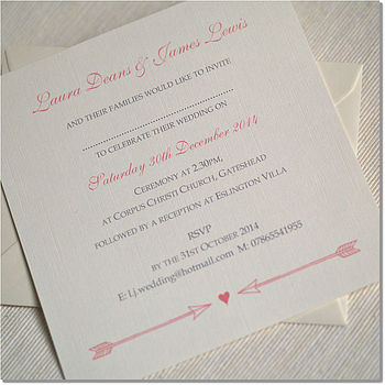 'Arrow To My Heart' Wedding Invitations