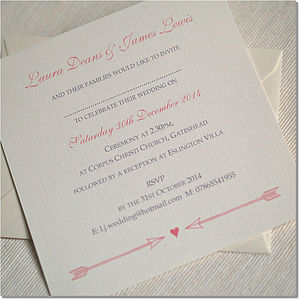 Arrow To My Heart Wedding Invitations - wedding stationery