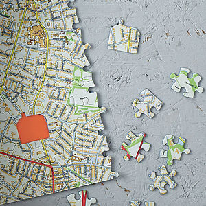 Our House Personalised Map Jigsaw - gifts under £50 for her