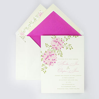 Cally Letterpress Wedding Invitation