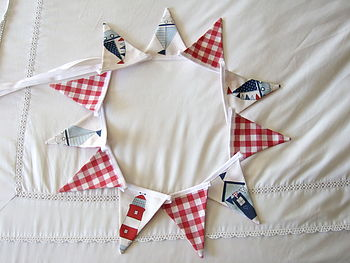 Nautical & Red Gingham Mini-Bunting