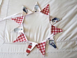 Nautical Mini Bunting - living room