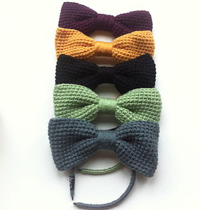 Knitted Bow Headband - hair accessories