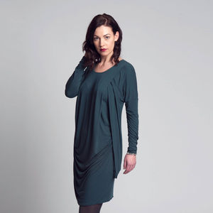 Long Sleeve Drape Side Dress - the maternity collection