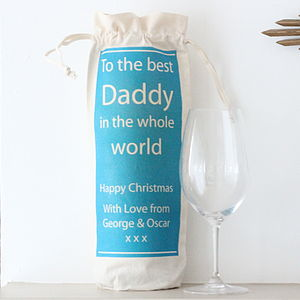 Personalised Wine Bottle Bag - wrapping