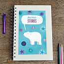 Personalised Polar Bear Notebook