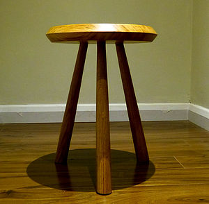 Handmade Oak Ufo Side Table Or Stool - furniture