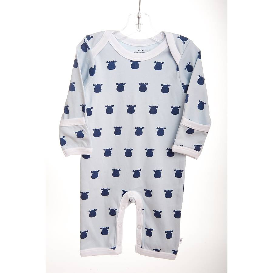 b21e2fc61839 blue baby romper with navy cow print by mittymoos ...