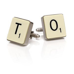 Official Scrabble Cufflinks - special work anniversary gifts