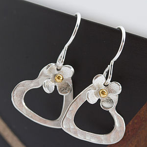Daisy Heart Earrings Of Porthleven - women's jewellery