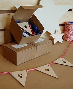 Wooden Bunting - hanging decorations