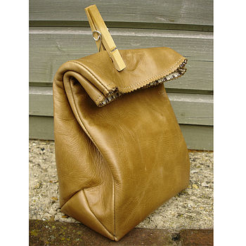 Mini Leather Paper bag