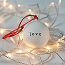 Love Ceramic Christmas Bauble