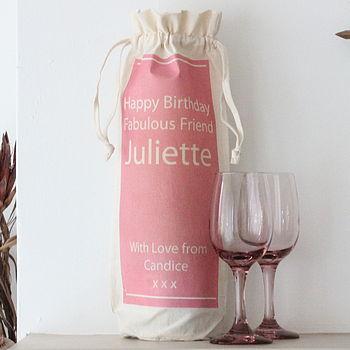 Personalised Wine Bottle Bag