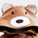 Teddy Bear Girls Cape Jacket In Toffee Velvet