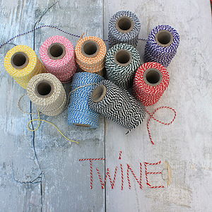 Coloured Bakers Twine - cards & wrap