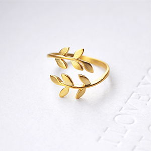 Bay Leaf Ring In Gold/Silver - rings