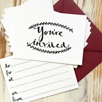 'You're Invited' Notecards