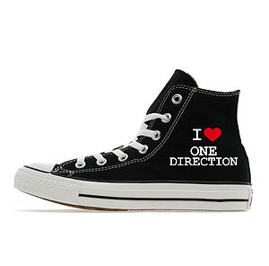 Personalised I Love Custom Converse