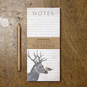 Hello Deer Desk Notepad - notepads & to do lists