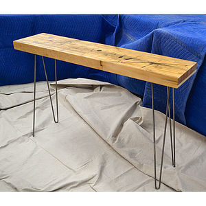 Reclaimed Traincar Maple Side Table - furniture