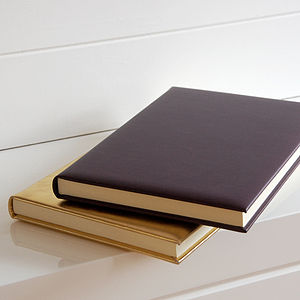 Personalised Leather A4 Journal - interests & hobbies